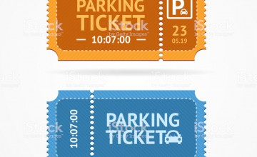 Color Whole Parking Ticket Icon Set Symbol of Pay for Car on a White. Vector illustration of Icons